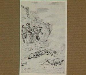 Vier doden door een groep mannen ontdekt (ongeïdentificeerde voorstelling)
