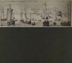 Het vertrek van Karel II vanuit Scheveningen, 1660