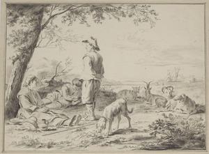 Rustende herders met vee