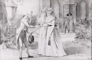 Portret van Abraham Cornelis Dalen (1772-1837) Elizabeth Christina van der Eb (1775-1798) Hendrika van der Eb (1773-1807) Gualtherus Kolff (1771-1836) Catharina Jacoba Durselen (1778-1831)