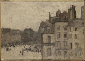 Gezicht op de Pont-Neuf in Parijs