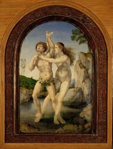 De gedaanteverwisseling van Hermaphroditus en de nimf Salmacis