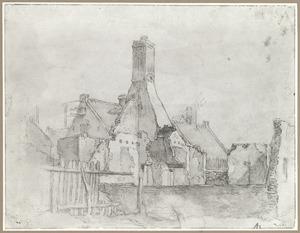 Vervallen huizen (Utrecht?)