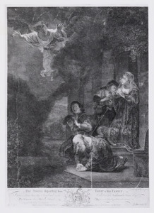 The Angel departing from Tobit and his Family