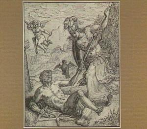 Minerva overwint Vulcanus (Kuisheid overwint zinnelijke lust)