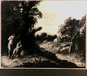 Boslandschap met Pan en Syrinx (Metamorfosen 1:689-713)