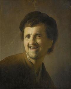 Borststuk van een lachende man