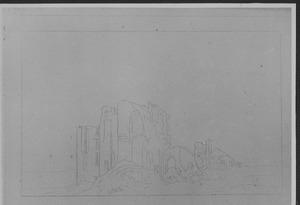 Ruïne van kasteel Brederode, gezien vanuit het zuidwesten
