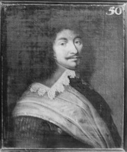 Portret van Matthijs van Asperen, kapitein in het Noord-Hollands regiment