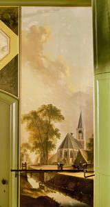 Dorpsgezicht met kerkgebouw
