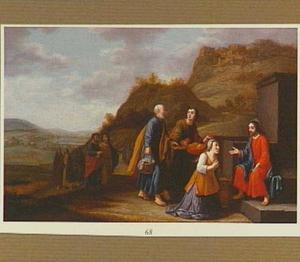 Christus en de vrouw van Samaria bij de bron (Johannes 4:27-30)
