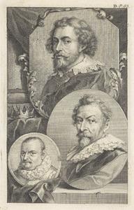 Portretten van Peter Paul Rubens (1577-1640), Hendrick van Balen (1573-1632) en Roelant Savery (1576-1637)