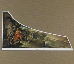 Clavecimbeldeksel met een voorstelling van Orpheus spelend voor de dieren