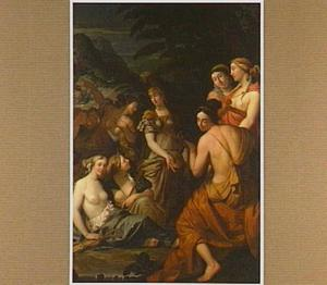 Minerva bezoekt de muzen op de berg Helicon (Metamorphosen 5: 250-268)