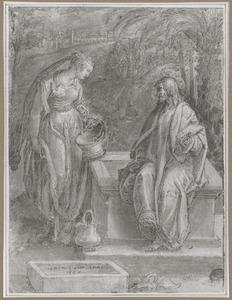 Christus en de Samaritaanse vrouw bij de waterput