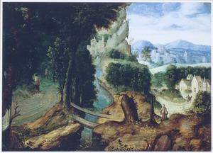 Berglandschap met de gelijkenisl van de Barmhartige Samaritaan (Lucas 10:25-37)