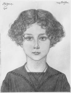 Portret van Miesje Schellens (1918-1989 )