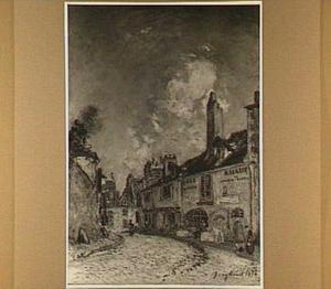 Gezicht op het huis van de dichter en schrijnwerker Adam Billaud [Billaut] te Nevers