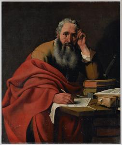 De apostel Paulus een brief schrijvend
