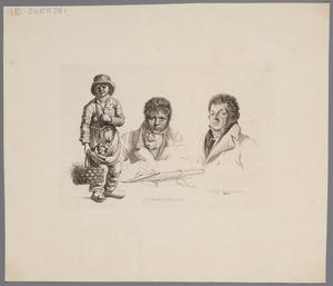 Portretten van Joannes Pieter Visser Bender (1785-1813) en Pieter Bartholomeusz. Barbiers (1772-1837)