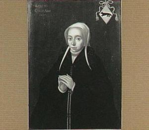 Portret van Lidewij (Liduwina) van Beveren (1522-1557), echtgenote van Frans de Witt (1516-1565)