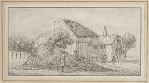 De hofstede Cranenbroek met de resten van Huis Cranenbroek bij Heiloo