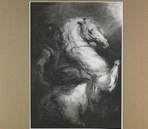 Studie van een soldaat op een steigerend paard