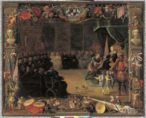 Antonio Moncada graaf van Adernò wordt door het algemeen parlement van het rijk benoemd tot 'sommo duce della guerra', zodat hij Cabrera die de koningin belaagt kan verslaan