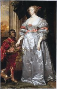 Portret van een onbekende vrouw met haar bediende