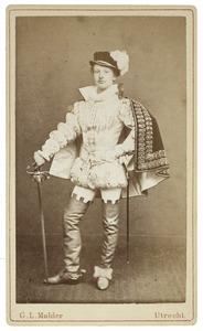 Portret van David Mattheus van Gelder de Neufville (1858-1938) als Graaf van Egmont