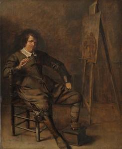 Portret van een man, mogelijk zelfportret van Pieter Codde (1599-1678)