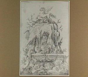 Fontein met Pegasus, en Perseus met het hoofd van Medusa