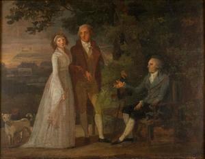 Voorstudie voor portret van de familie Niels Ryberg (1725-1804)