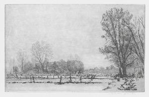 Sneeuwgezicht kijkend richting Westbroek