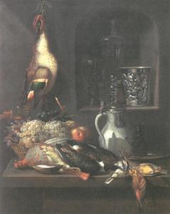 Stilleven met dode vogels