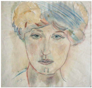 Portret van Greet Sluijters-van Cooten (1885-1967)