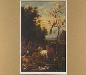 Landschap met Orfeus spelend voor de dieren