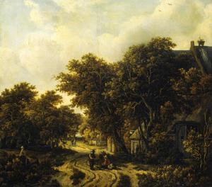 Landschap met een herberg