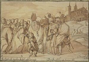 De H. Anno sticht de abdij Siegburg bij Keulen