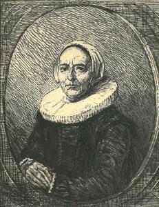 Portret van een onbekende 53-jarige vrouw