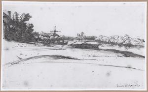 Het veerpont in de IJssel bij Dieren