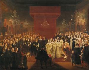 Het huwelijk van Friedrich Wilhelm Kurfürst zu Brandenburg met Louise Henriette van Oranje, 1646