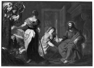 Christus in het huis van Maria en Martha