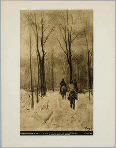 Ruiters in de sneeuw