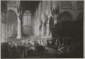 De inhuldiging van koning Willem II (1792-1849) op 28 november 1840 in de Nieuwe Kerk te Amsterdam