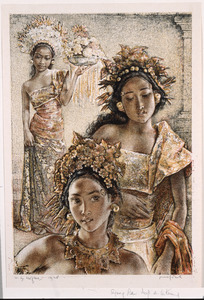 Drie Balinese vrouwen
