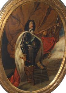Portret van Koning Christiaan V van Denemarken (1646-1699)