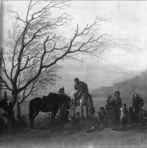 Rustende jagers en een zigeunerfamilie