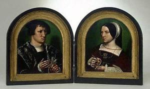 Tweeluik met Cornelius de Schepper en Elisabeth Doncke