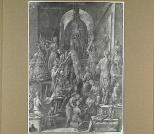 De Florentijnse kunstacademie, allegorie